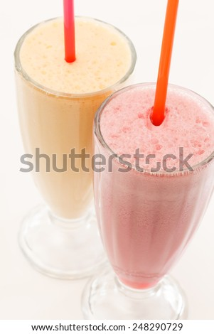 fruit milk cocktails