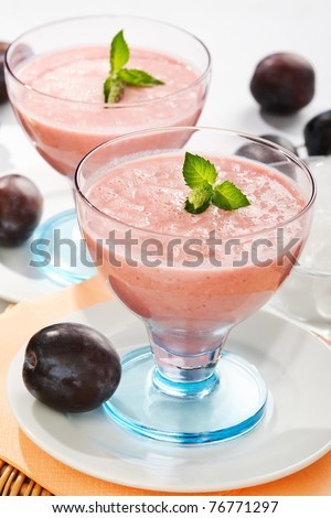 fruit milk shake - stock photo