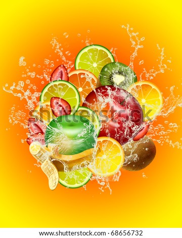 FRUIT MIX - stock photo