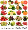 Fruit on a white background - stock photo