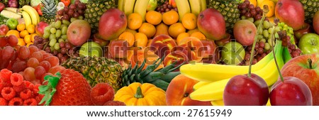 Fruit Panorama - stock photo
