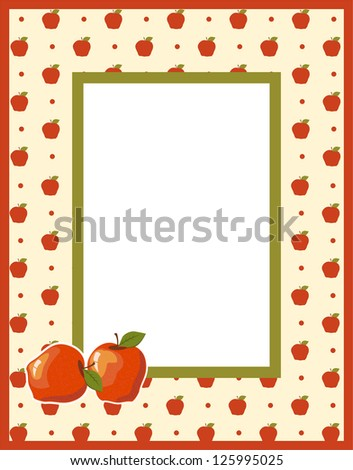 Fruit photo framework. Raster version, vector file available in portfolio. - stock photo