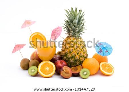 fruit pile - stock photo