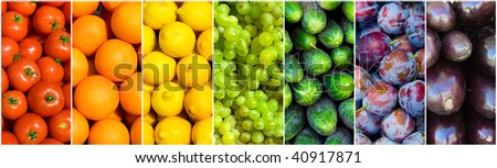 fruit rainbow - stock photo