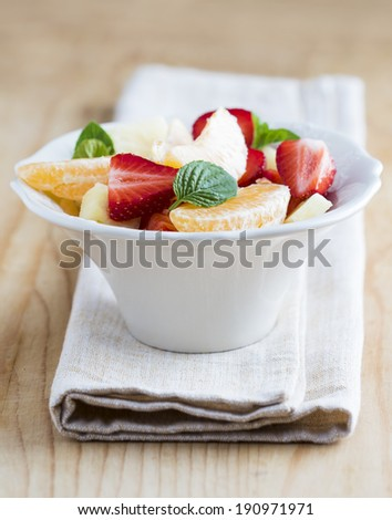 Fruit Salad on the table