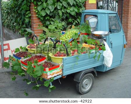fruit sales - stock photo
