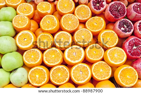 Fruit selection at local - stock photo