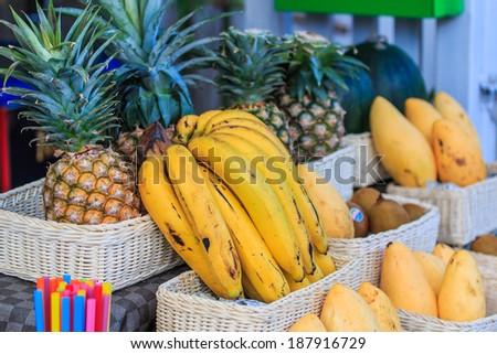 Fruit Shop - Store fruits  - stock photo