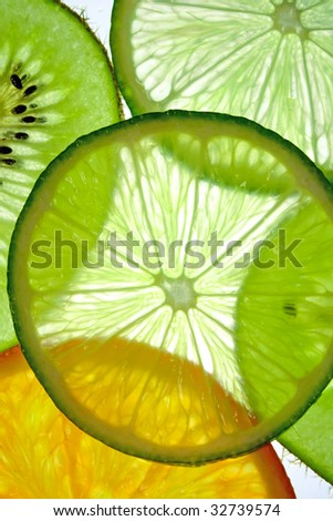 fruit slices - stock photo