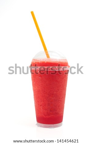 Fruit smoothie with clipping path