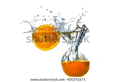 Fruit splash - stock photo