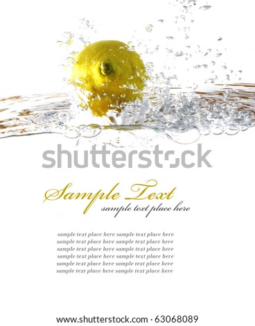 fruit splash - stock photo