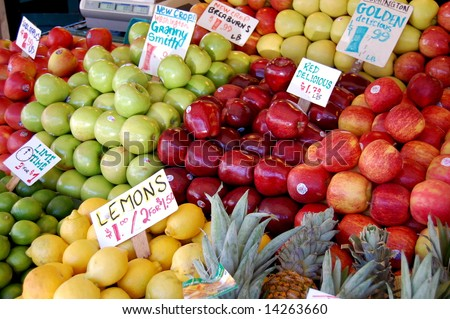 fruit stand 2 - stock photo