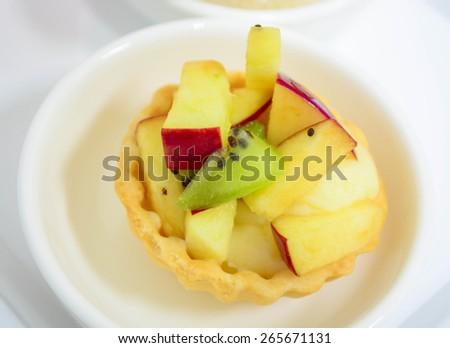 fruit tart  - stock photo