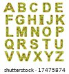 Fruits alphabet isolated on a white background - stock photo