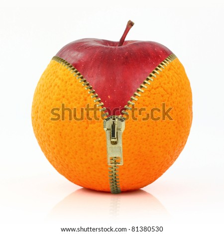 Fruits and diet against cellulite - stock photo