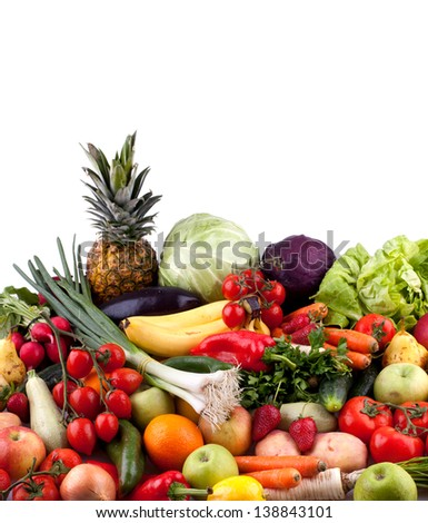 Fruits and vegetables - stock photo