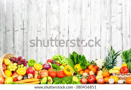 Fruits and vegetables. - stock photo