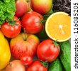 fruits and vegetables background - stock photo