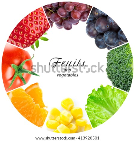 Fruits and vegetables. Food concept. Fresh food