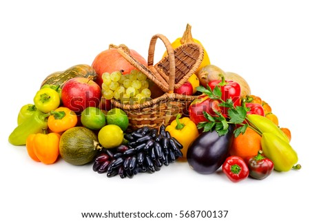Genial Fruits And Vegetables In Basket