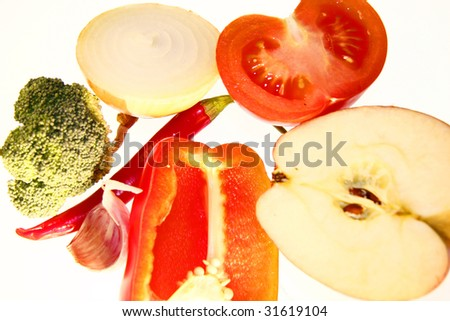 fruits and vegetables - symbolic image for food