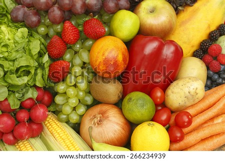 Fruits and vegetables variation  - stock photo