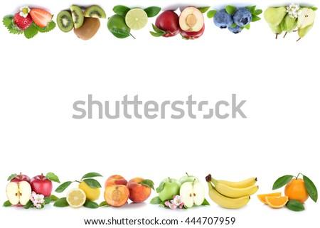 Fruits apple orange apples oranges fresh fruit with copyspace copy space - stock photo