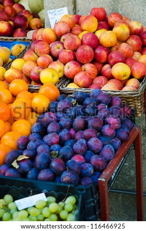 Fruits at the market stall