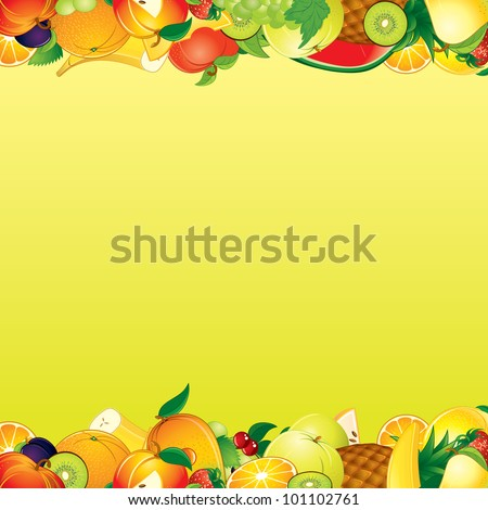 Fruits Background - stock photo