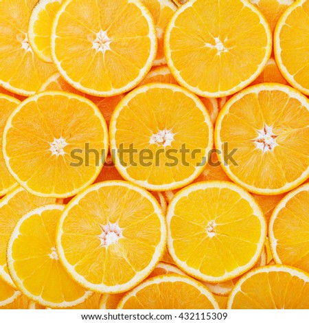 Fruits background macro. Citrus fruits top view macro, selective focus. Fruit Mix like bright background - stock photo