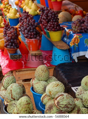 Fruits for Sale in a market in Chiapas, Mexico - stock photo
