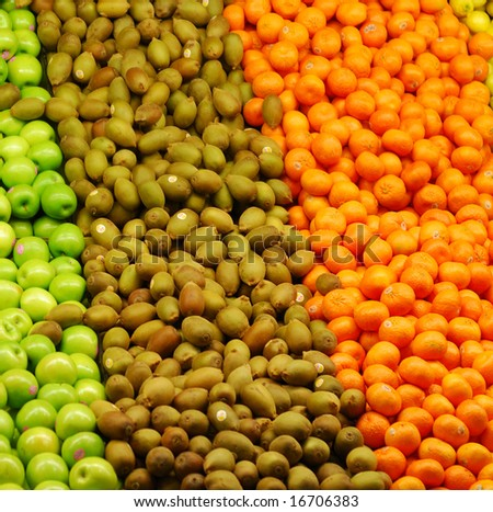 fruits for sale in the market - stock photo