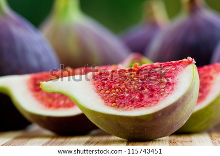 Fruits, garden - Ripe Fig Fruits - stock photo