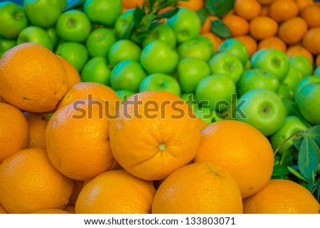 Fruits in a supermarket - stock photo