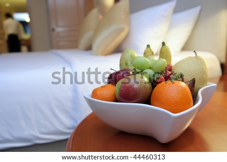 fruits in hotel room - stock photo