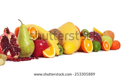 Fruits in line - stock photo