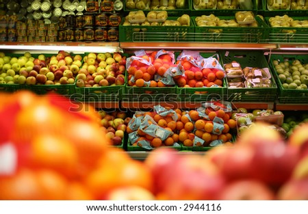 fruits in shop - stock photo