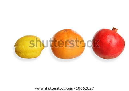 fruits isolated on white background - stock photo