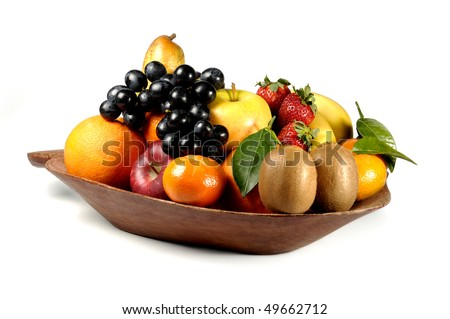 Fruits platter - stock photo