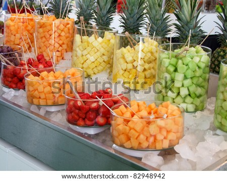 Fruits Salad - stock photo