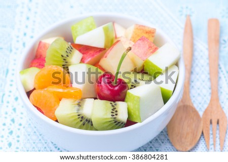 Fruits salad for healthy life style - stock photo