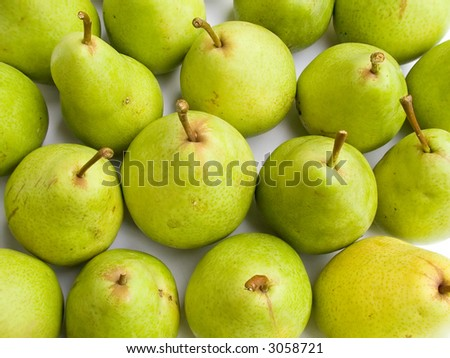 fruits series: fresh and ripe tasty pears