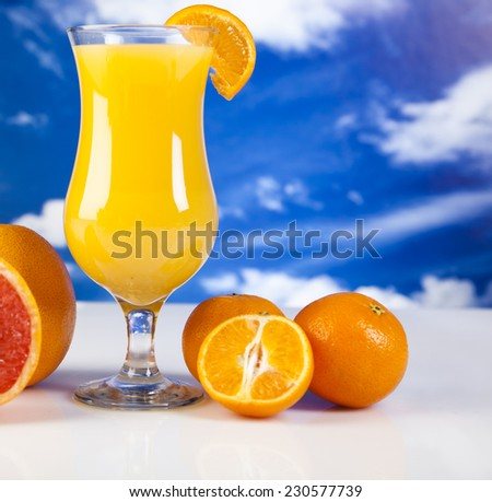 Fruits, vegetables, fruit juices, vegetable juices, healthy food