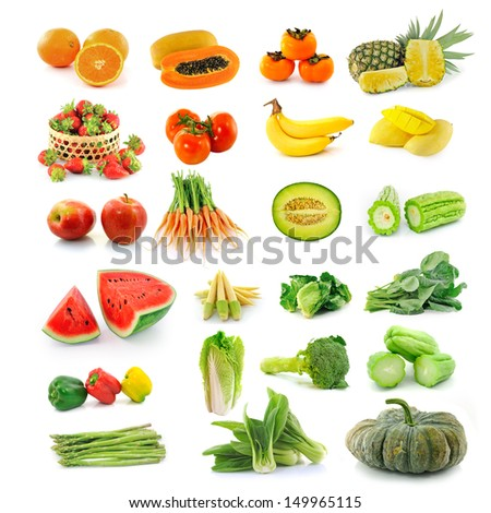 Fruits  vegetables. With beta carotene.