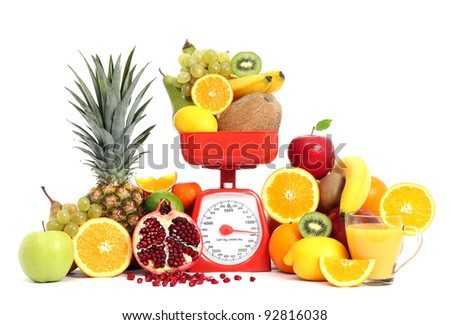 Fruits with scale - stock photo