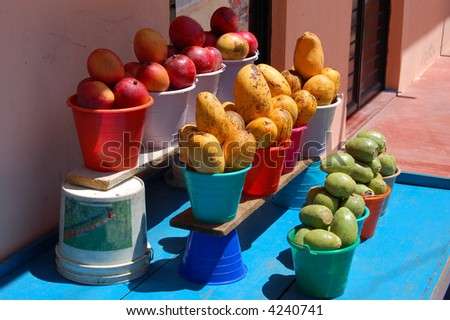 Fruitstand in Chiapas, Mexico - stock photo