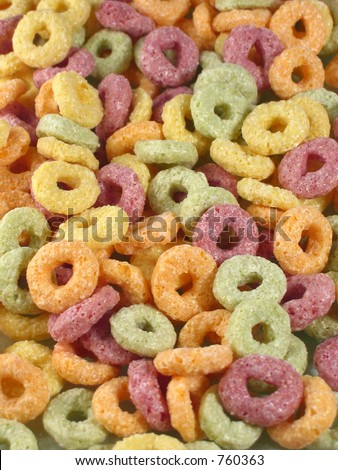 fruity cereals - stock photo