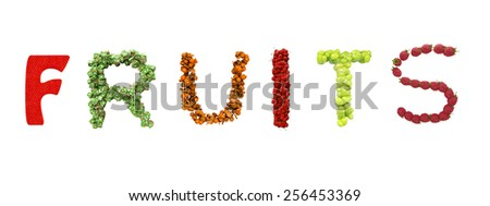 Fruity text - stock photo