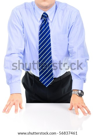 Frustrated businessman on a meeting